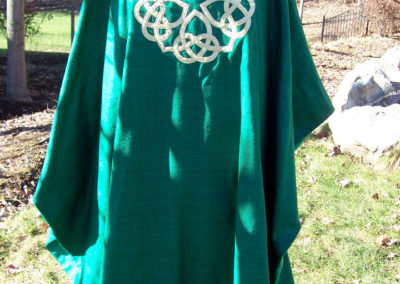 Celtic Knot Chasuble made using raw noile silk