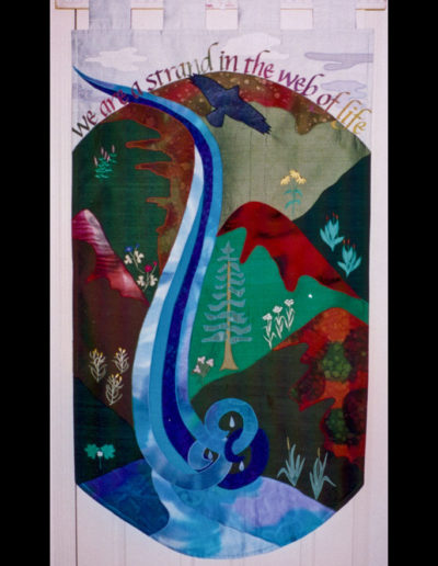 We are a Strand in the Web of Life - banner created for Bishop Stephen Charleston when he was Dean of EDS