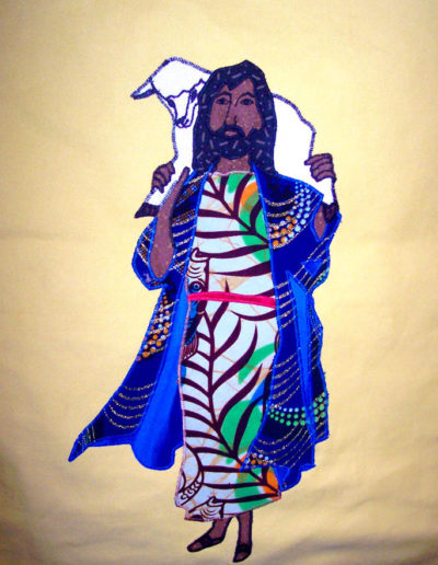 Good Shepherd Home in Cameroon - drawn by a young man who lives there and created using Cameroonian textiles