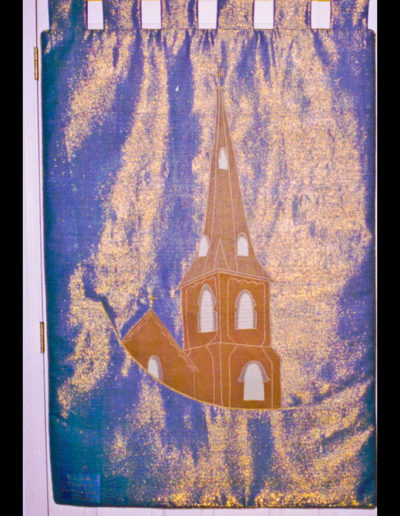 The back of the Grace banner