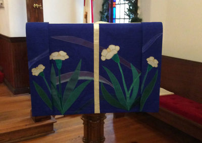 Advent set - taken from the lilies in the stained glass windows of the church