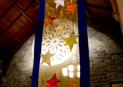 Advent Column Banner - Church of the Anunciation in Israel