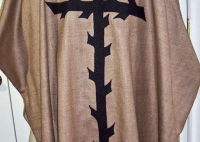 Coarse linen Lenten set - symbolic of the curtain torn asunder