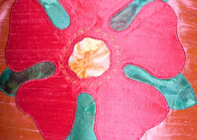 Reversible rose/Lent chasuble and stole