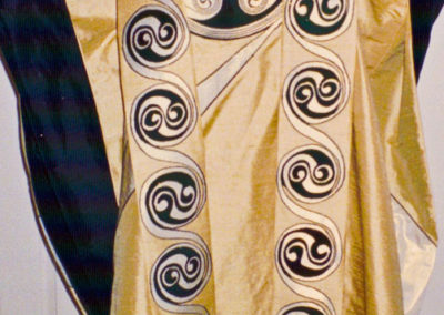 Yellow Epiphany set based on a 12th century Celtic spiral