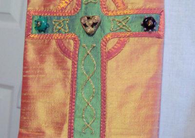 Beads - Beaded cross detail