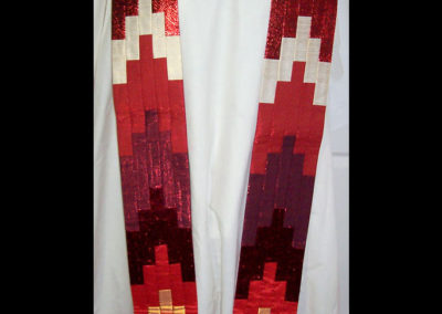 flame bargello in silk
