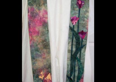 Fabric origami - iris and ginger