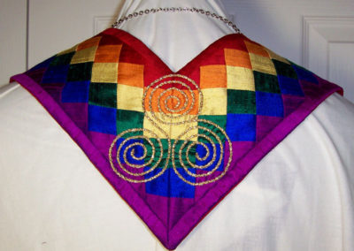 Seminole patchwork rainbow of silk