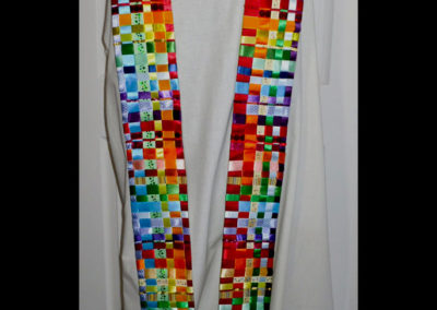 woven ribbon rainbow complete with bells-1