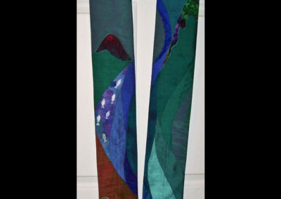 Reversible stole - my story with rock walls, the river of life and fish