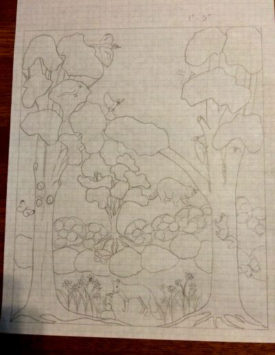 Cutwork Banner Sketch _ Fruit of the Vine Vestments